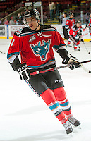 KELOWNA, CANADA - OCTOBER 10: Mitchell Wheaton #6 of the Kelowna Rockets warms up on the ice as the Spokane Chiefs visit the Kelowna Rockets on October 10, 2012 at Prospera Place in Kelowna, British Columbia, Canada (Photo by Marissa Baecker/Shoot the Breeze) *** Local Caption ***