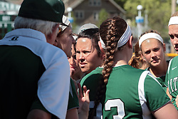 09 May 2014:  Kat McCreery during an NCAA Division III women's softball championship series game between the Lake Forest Foresters and the Illinois Wesleyan Titans in Bloomington IL