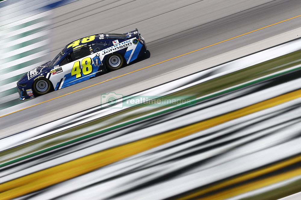 July 13, 2018 - Sparta, Kentucky, United States of America - Jimmie Johnson (48) brings his race car down the front stretch during practice for the Quaker State 400 at Kentucky Speedway in Sparta, Kentucky. (Credit Image: © Chris Owens Asp Inc/ASP via ZUMA Wire)