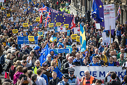 © Licensed to London News Pictures. 25/03/2017. London, UK. Thousands of protestors take part in the Unite for Europe march. Campaigners are demanding that the UK stays in Europe. Prime Minister Theresa May will invoke article 50 on Wednesday starting the expected two year process of exiting the EU. Photo credit: Peter Macdiarmid/LNP