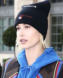 Hailey Baldwin, Courtney Love and Amber Valetta are among the celebrity sightings in Paris this week. 27 Sep 2017 Pictured: Hailey Baldwin. Photo credit: MEGA TheMegaAgency.com +1 888 505 6342
