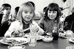 Dinnertime, primary school, Nottingham UK 1986