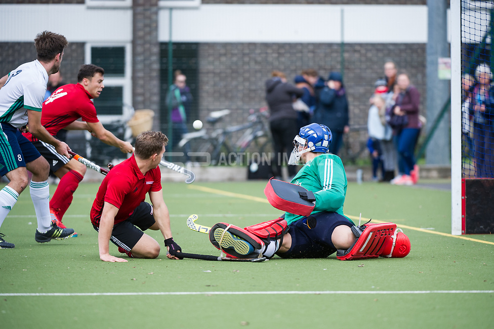 Chichester v Southgate - Men's Hockey League East Conference, Chicester Technical College, Chicester, UK on 29October 2017. Photo: Simon Parker