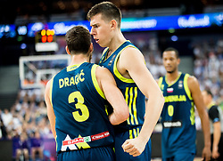 Goran Dragic of Slovenia and Vlatko Cancar of Slovenia during basketball match between National Teams of Finland and Slovenia at Day 3 of the FIBA EuroBasket 2017 at Hartwall Arena in Helsinki, Finland on September 2, 2017. Photo by Vid Ponikvar / Sportida