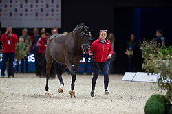 Isabell WERTH (GER) & Weihegold OLD - Horse Inspection - FEI World Cup™ Dressage Final - Longines FEI World Cup Finals Paris - Accor Hotels Arena, Bercy, Paris, France - 12 April 2018