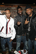 l to r: T.I., Young LA, and Maino at The Vibe Magazine private reception in honor of Grammy Award winning Superstar artist and actor, T.I held at The Eldrige on February 9, 2009 in New York City