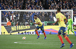 March 22, 2019 - Tokyo, Japan - J. Lerma of Colombia drives the ball during the Kirin Challenge Cup 2019 between Colombia and Japan at the International Yokohama Stadium in Yokohama Japan. Friday, March 22, 2019. Photo by: Ramiro Agustin Vargas Tabares (Credit Image: © Ramiro Agustin Vargas Tabares/ZUMA Wire)