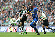 AFC Wimbledon striker Tom Elliott (9) closes down during the Sky Bet League 2 play off final match between AFC Wimbledon and Plymouth Argyle at Wembley Stadium, London, England on 30 May 2016.