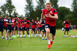 Taylor Moore in action as Bristol City return for pre-season training ahead of the 2017/18 Sky Bet Championship Season - Rogan/JMP - 30/06/2017 - Failand Training Ground - Bristol, England - Bristol City Training.