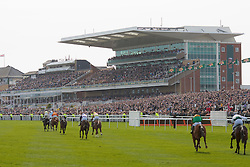 LIVERPOOL, ENGLAND - Thursday, April 8, 2010: Horses race towards the finish line during the opening day of the Grand National Festival at Aintree Racecourse. (Pic by David Tickle/Propaganda)