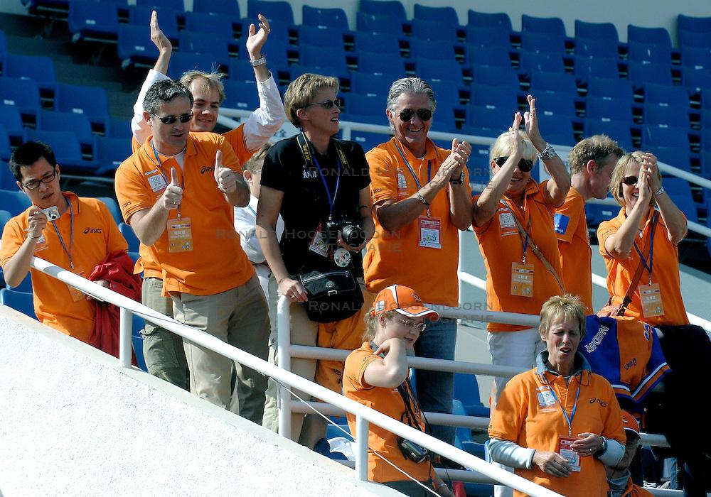 21-10-2007 ATLETIEK: ANA BEIJING MARATHON: BEIJING CHINA<br /> De Beijing Olympic Marathon Experience georganiseerd door NOC NSF en ATP is een groot succes geworden / Vele Oranje supporters langs de marathon en in het Olympic Sports Center Stadium - Nashuatec<br /> &copy;2007-WWW.FOTOHOOGENDOORN.NL