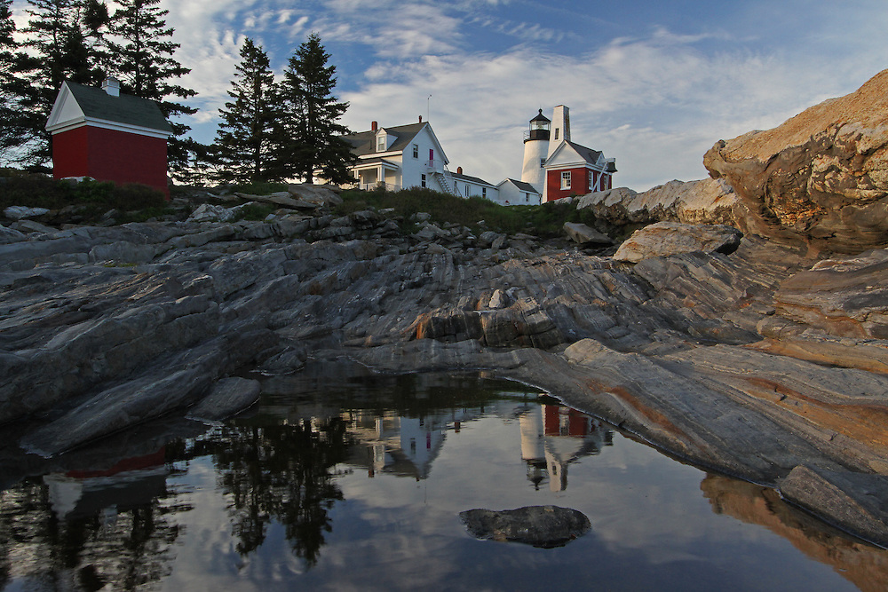 Pemaquid Point Light, Lighthouse photography fine art prints are available as museum quality photography prints, canvas prints, acrylic prints or metal prints. Prints may be framed and matted to the individual liking and room decor needs:<br /> <br /> http://juergen-roth.pixels.com/featured/pemaquid-point-light-maine-juergen-roth.html<br /> <br /> The Pemaquid Point Light is a historic Unites States lighthouse that is located in Bristol, Lincoln County, Maine, at the tip of the Pemaquid Neck. The Pemaquid Point  lighthouse rises above the crashing surf of the Atlantic Ocean and the spectacular rock formations. It is a cultural and historical treasure and the famous New England lighthouse was added to the National Register of Historic Places as Pemaquid Point Light on 16th of April in 1985.<br /> <br /> Good light and happy photo making!<br /> <br /> My best,<br /> <br /> Juergen<br /> Prints: http://www.rothgalleries.com<br /> Photo Blog: http://whereintheworldisjuergen.blogspot.com<br /> Twitter: @NatureFineArt<br /> Instagram: https://www.instagram.com/rothgalleries<br /> Facebook: https://www.facebook.com/naturefineart