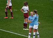 Manchester City Women's forward Georgia Stanway (10) celebrates her second goal during the FA Women's Super League match between Manchester City Women and West Ham United Women at the Sport City Academy Stadium, Manchester, United Kingdom on 17 November 2019.