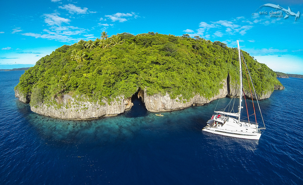S/Y Bella Principessa at Swallows Cave, Vava'u, Tonga