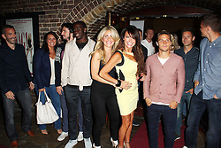 © Licensed to London News Pictures. 13/08/2013. LONDON. Lizzie Cundy, Pippa Fulton & Brentford FC Players, WAG! The Musical - ViP Night, Charing Cross Theatre, London UK, 13 August 2013,Photo credit : Brett D. Cove/Piqtured/LNP