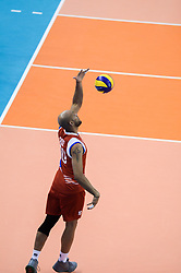 September 12, 2018 - Varna, Bulgaria - Ezequiel Cruz Lozada, Puerto Rico, during Iran vs Puerto Rico, pool D, during 2018 FIVB Volleyball Men's World Championship Italy-Bulgaria 2018, Varna, Bulgaria on September 12, 2018  (Credit Image: © Hristo Rusev/NurPhoto/ZUMA Press)