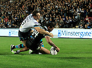 Fetuli Talanoa of Hull Football Club scores his teams3rd try of the game during the First Utility Super League match at KC Stadium, Hull<br /> Picture by Richard Gould/Focus Images Ltd +44 7855 403186<br /> 12/09/2014
