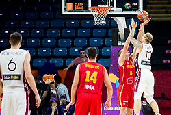 Dino Radoncic of Montenegro vs Janis Timma of Latvia during basketball match between National Teams of Latvia and Montenegro at Day 11 in Round of 16 of the FIBA EuroBasket 2017 at Sinan Erdem Dome in Istanbul, Turkey on September 10, 2017. Photo by Vid Ponikvar / Sportida
