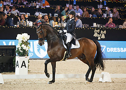 De Deken Julie, (BEL), Kingsley Lucky Dance <br /> FEI Grand Prix Special<br /> Vlaanderen Kerstjumping - Memorial Eric Wauters - <br /> Mechelen 2015<br /> © Hippo Foto - Dirk Caremans<br /> 28/12/15