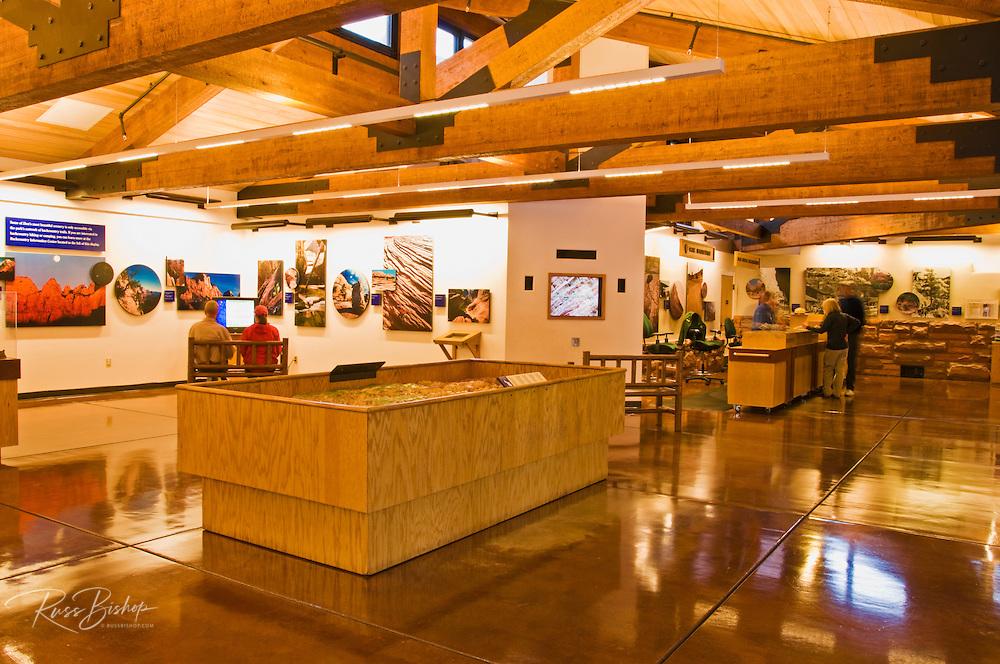 Interpretive displays in the Zion Visitor Center, Zion National Park, Utah