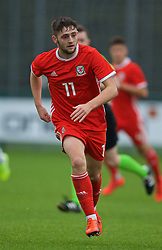 NEWPORT, WALES - Monday, October 14, 2019: Wales' Joe Adams during an Under-19's International Friendly match between Wales and Austria at Dragon Park. (Pic by David Rawcliffe/Propaganda)
