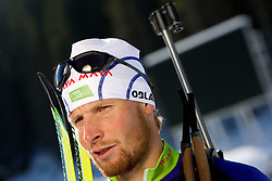 Klemen Bauer at practice session during Media day of Slovenian biathlon team on November 12, 2010 at Rudno polje, Pokljuka, Slovenia. (Photo By Vid Ponikvar / Sportida.com)