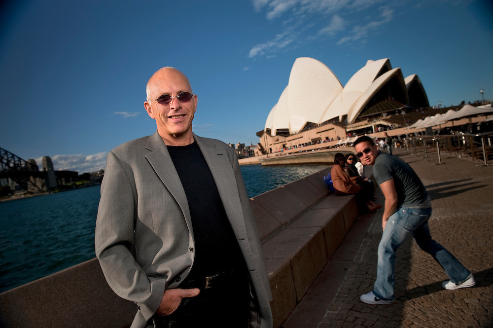 Composer and conductor, Nigel Westlake in front of the Sydney Opera House in Sydney, NSW, Australia. .Nigel Westlake will be conducting a personal requiem, Missa Solis, a 'Mass for the Sun' as a tribute to his son, Eli, who was killed in 2008.