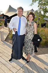 LORD & LADY STRATHCLYDE at a reception hosted by Eco World Ballymore and the English National Ballet to celebrate their partnership at London City Island, Orchard Place, London E14 on 1st July 2015