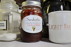 Sarabeth's Cranberry Relish. Legendary Spreadable Fruit. SBK Preserves, Bronx, NY. Refirigerate After Opening.