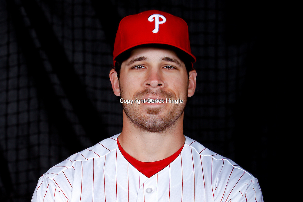 February 22, 2011; Clearwater, FL, USA; Philadelphia Phillies outfielder Matt Miller (87) poses during photo day at Bright House Networks Field. Mandatory Credit: Derick E. Hingle