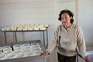 Illica, 13/04/2017: Sandra una dei soci della Cooperativa Agricola Rinascita 78 nel caseificio.<br /> &copy; Andrea Sabbadini