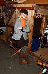 TV presenter DONNA AIR at the opening of the Natural History Museum's Ice Rink on 16th November 2005.<br /><br />NON EXCLUSIVE - WORLD RIGHTS