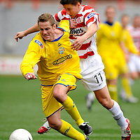 SFL 1st Division.Hamilton Academical V Morton.Kieran McAnespie and Mark Gilhaney.