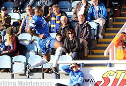 Peterborough United's Nathaniel Mendez-Laing celebrates scoring - Photo mandatory by-line: Joe Dent/JMP - Tel: Mobile: 07966 386802 19/10/2013 - SPORT - FOOTBALL - London Road Stadium - Peterborough - Peterborough United V Shrewsbury Town - Sky Bet League One