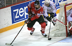 Rick Nash of Canada and Marius Holtet of Norway  at play-off round quarterfinals ice-hockey game Norway vs Canada at IIHF WC 2008 in Halifax,  on May 14, 2008 in Metro Center, Halifax, Nova Scotia,Canada. (Photo by Vid Ponikvar / Sportal Images)