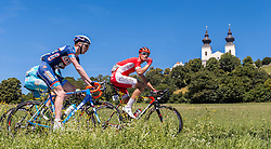 05.07.2016, Sonntagberg, AUT, Ö-Tour, Österreich Radrundfahrt, 2. Etappe, Ardagger Markt nach Sonntagberg, im Bild Frederik Backaert (BEL, Wanty - Groupe Gobert), Anthony Perez (FRA, Cofidis, Solution Credits) // Frederik Backaert (BEL Wanty - Groupe Gobert) Anthony Perez (FRA Cofidis Solution Credits) during the Tour of Austria, 3rd Stage from Ardagger Markt to Sonntagberg, Austria on 2016/07/05. EXPA Pictures © 2016, PhotoCredit: EXPA/ JFK