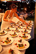 Pastry chef Cheryl Wakerhauser, owner Pix Patisserie preparing dessert for IPNC