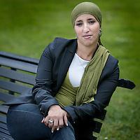 Nederland, Amsterdam , 18 augustus 2009..Fatima Elatik, Voorzitter dagelijks bestuur. stadsdeelwethouder.Politieke partij:PvdA.Foto:Jean-Pierre Jans
