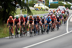 The peloton approach at Boels Ladies Tour 2019 - Stage 4, a 135.6 km road race from Arnhem to Nijmegen, Netherlands on September 7, 2019. Photo by Sean Robinson/velofocus.com