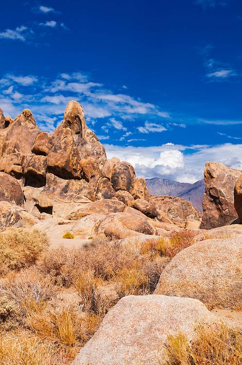 Boulders in the Alabama Hills, Lone Pine, California USA
