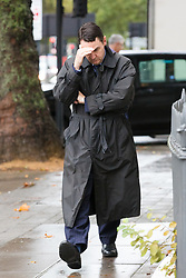 """© Licensed to London News Pictures. 26/09/2019. London, UK. Daren Timson-Hunt arrives at Westminster Magistrates court for sentencing. Timson-Hunt, a trained barrister and director of a primary school academy will be sentenced today after admitting """"up skirting"""" a female passenger on the Northern Line at Embankment station in London. Photo credit: Vickie Flores/LNP"""