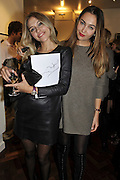 KATJA LITWINOWA; IRINA OSTROUKHOVA, Faces, Time and Places. Symbolic Collection & Ronnie Wood private view, Cork St. London. 8 November 2011.<br /> <br /> <br />  , -DO NOT ARCHIVE-© Copyright Photograph by Dafydd Jones. 248 Clapham Rd. London SW9 0PZ. Tel 0207 820 0771. www.dafjones.com.