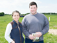 Katie Tiernan, Dunker, Co. Louth and Kevin McManmon Ballybofey Co Donegal at the  Newford Herd Open Day at Teagasc Athenry, Mellows Campus.  Photo:Andrew Downes, xposure.