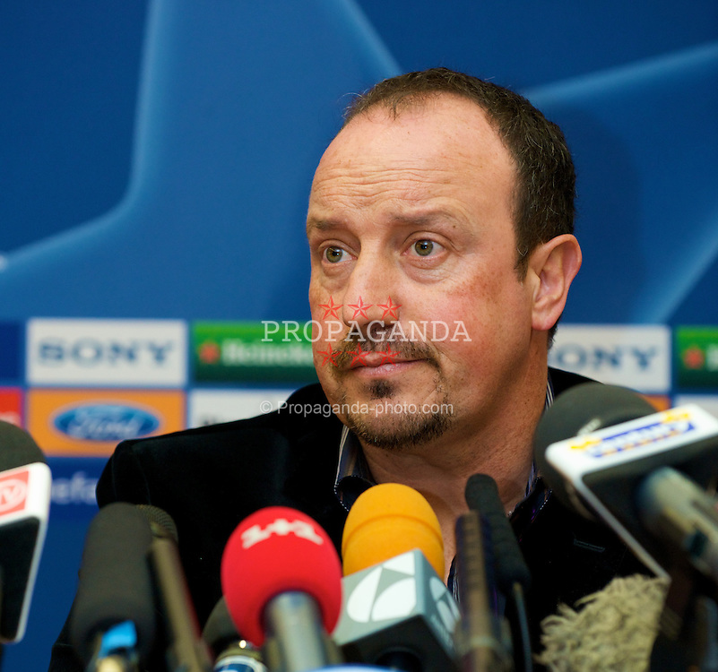 LIVERPOOL, ENGLAND - Monday, April 7,2008: Liverpool's manager Rafael Benitez during a press conference at Anfield ahead of the UEFA Champions League Quarter-Final 2nd Leg. (Pic by David Rawcliffe/Propaganda)