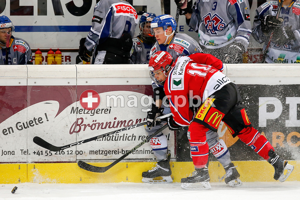 Rapperswil-Jona Lakers forward Cyrill Bischofberger is pictured during an Elite A Ranking Round 9-13 ice hockey game between Rapperswil-Jona Lakers and EHC Biel-Bienne Spirit held at the Diners Club Arena in Rapperswil, Switzerland, Sunday, Feb. 28, 2016. (Photo by Patrick B. Kraemer / MAGICPBK)