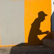 Turkey. Istambul. Karakoy district pedestrians shadows / ombre des passants à quartier de Karakoy