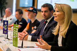 Maja Pak of STO during press conference of cycling race Tour Slovenia 2018, on May 17, 2018, in Ljubljana, Slovenia. Photo by Vid Ponikvar / Sportida