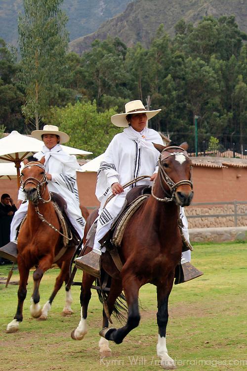 South America, Peru, Urubamba. Peruvian Paso Horse Show at Wayra Ranch.