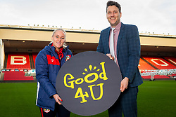 Bristol City Women's Alicia Johnson and Good 4 U's Karol Butler - Ryan Hiscott/JMP - 09/01/2019 - COMMERCIAL - Ashton Gate - Bristol, England - Bristol Sport Announce Sponsor Partnership with Good 4 U