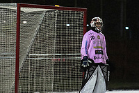 2018-11-23 | Jönköping, Sweden: Målilla GoIF (30) Joel Johansson during the game between Jönköping Bandy IF and Målilla GoIF at Råslätts IP ( Photo by: Marcus Vilson | Swe Press Photo )<br /> <br /> Keywords: Råslätts IP, Jönköping, Bandy, Div. 1 Södra, Jönköping Bandy IF, Målilla GoIF, Joel Johansson